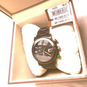 Gucci Stainless Steel 44mm G-Chrono Watch Black